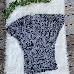 Stella McCartney Snake Print Jersey Knit Top